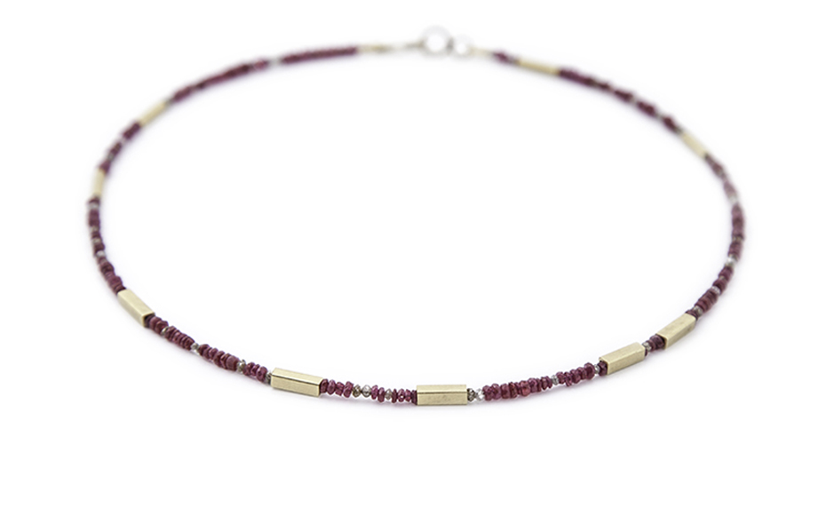 Ruby, mink & cognac diamond necklace, £1760