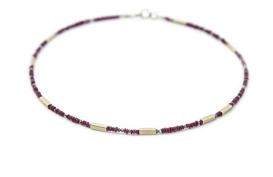 Ruby,mink &cognac diamond necklace,£1760