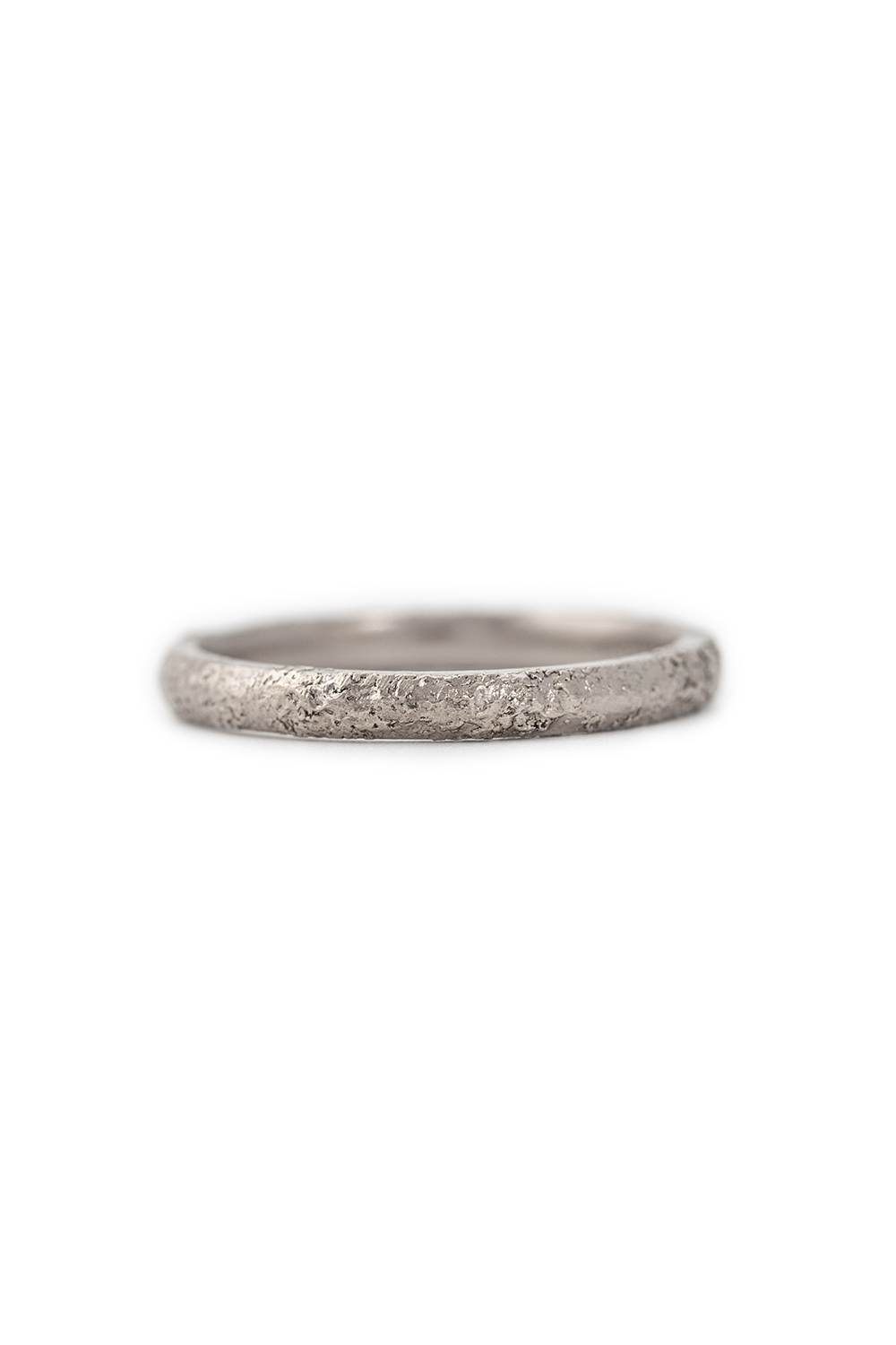 Gold dust fused ring in white gold