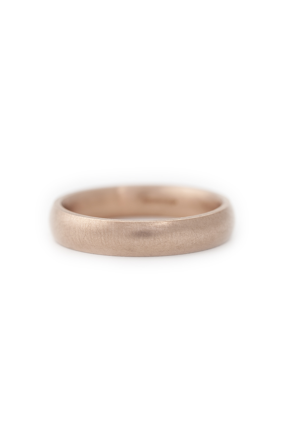 9ct Rose gold wide band with curve edge