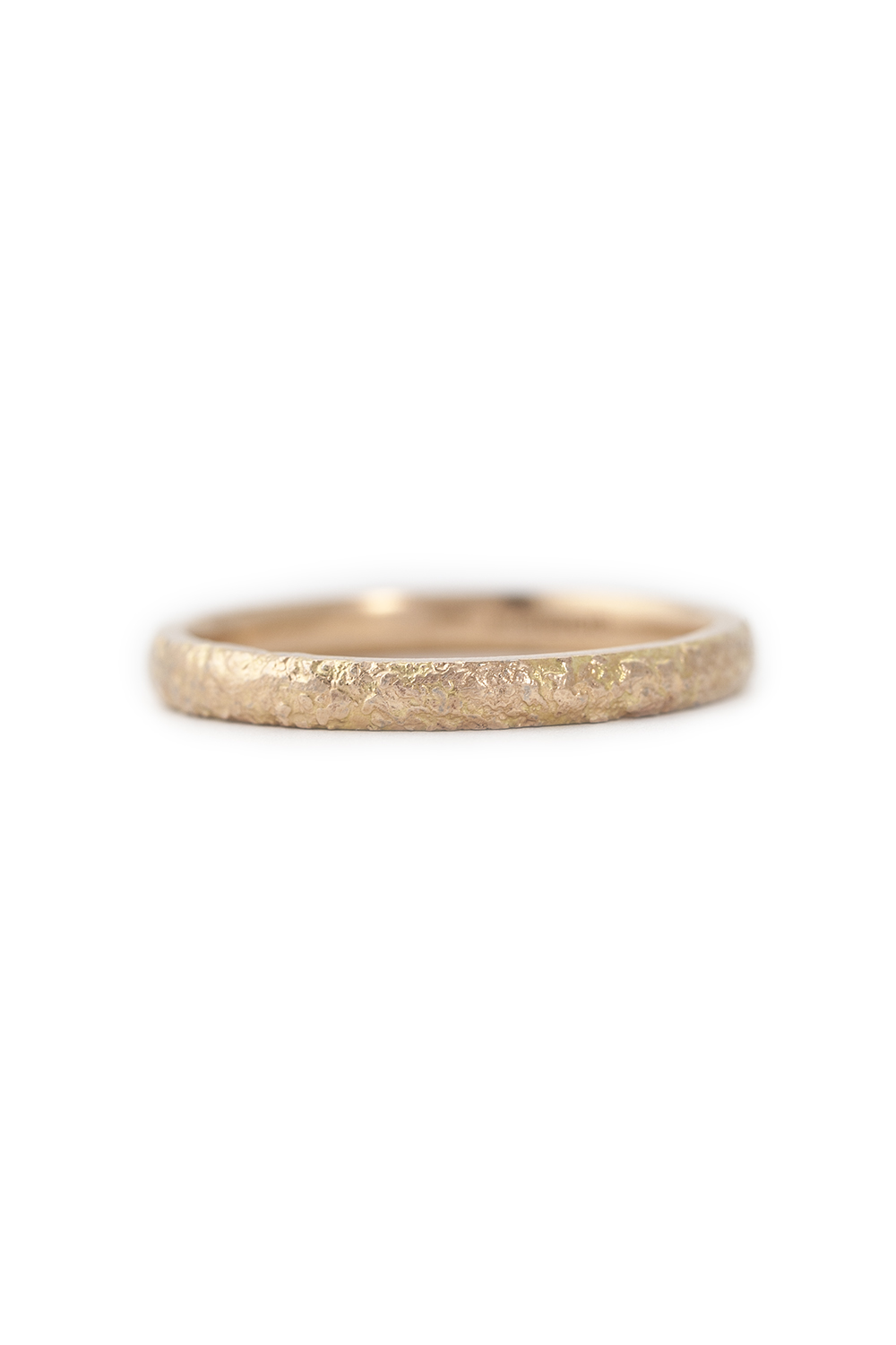 Gold dust fused ring in rose gold