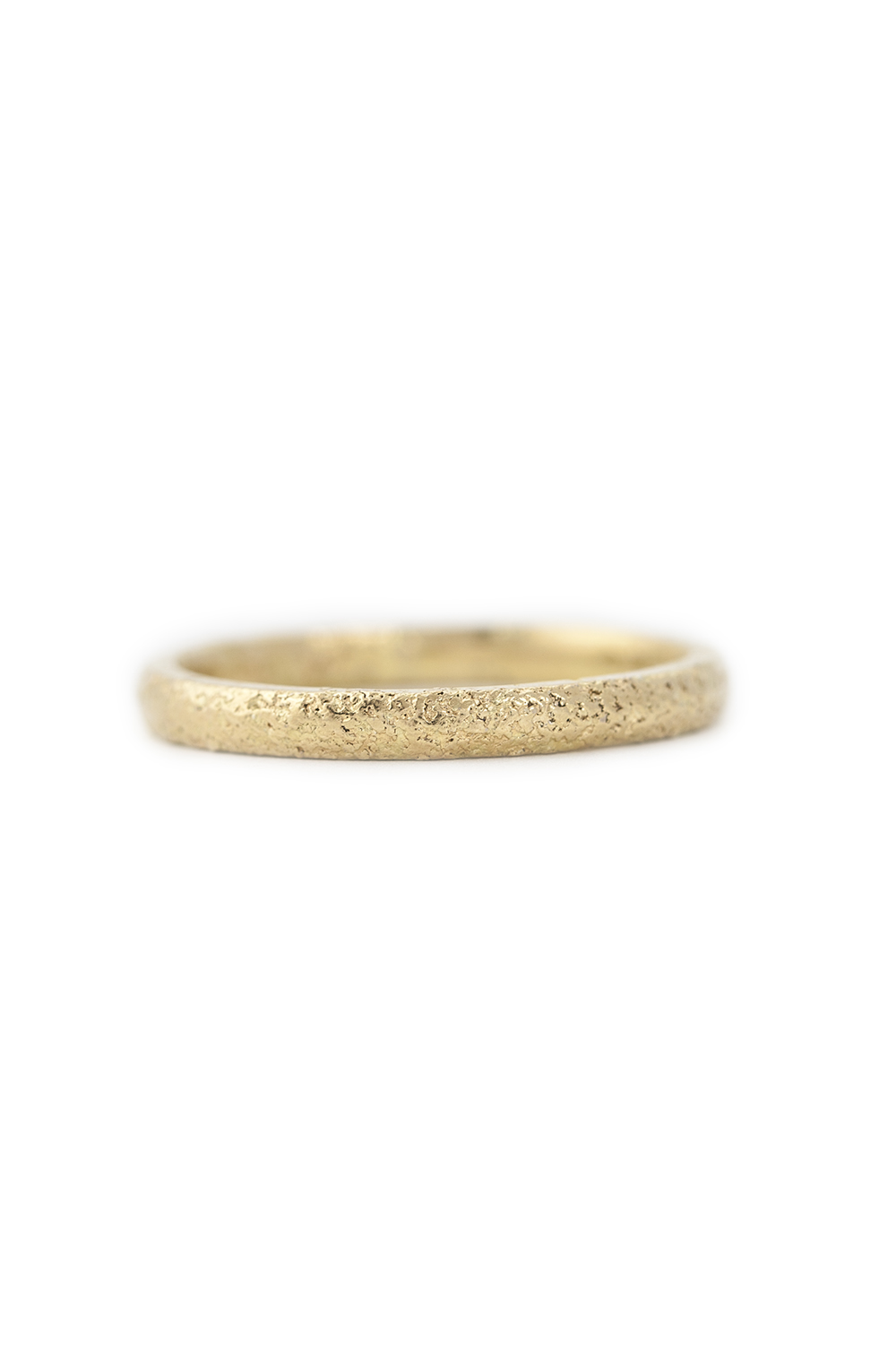 Gold dust fused ring in yellow gold