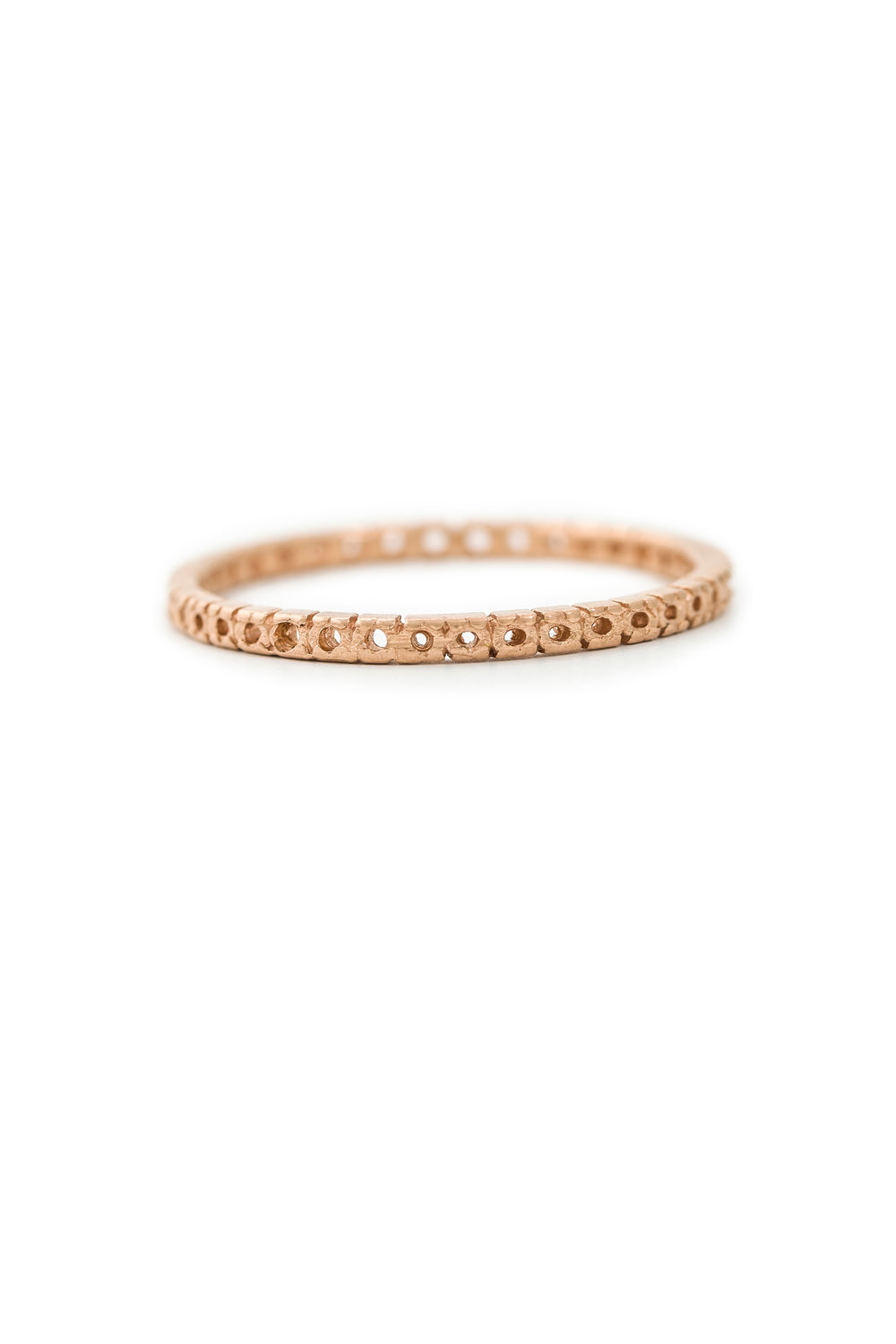 Open eternity ring in rose gold