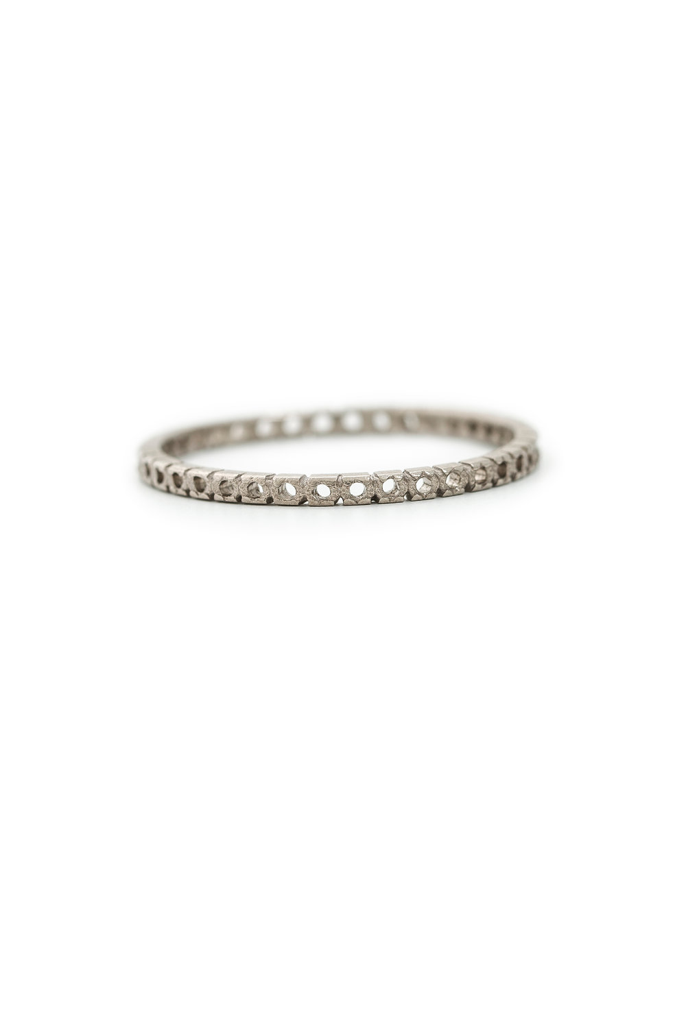 Open eternity ring in white gold