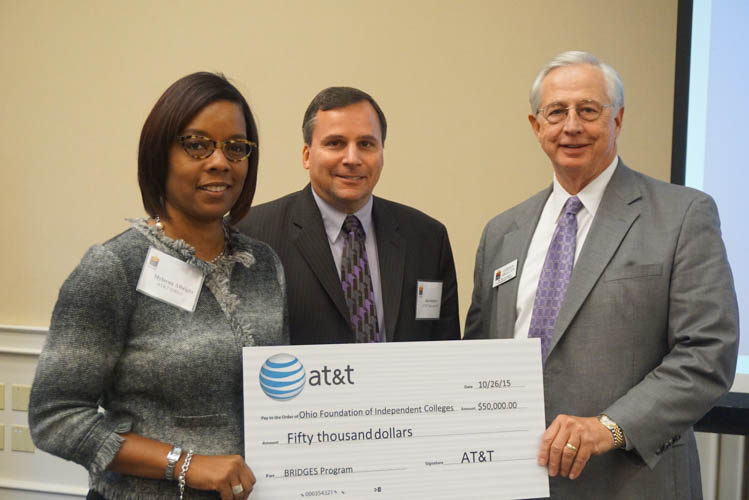 Pictured left to right: Mylayna Albright, V.P. - External Affairs, AT&T Ohio, James Switzer, Director - Infrastructure Program Management, AT&T, Gordon Brollier, President - OFIC at OFIC Diversity Forum on October 26, 2015.