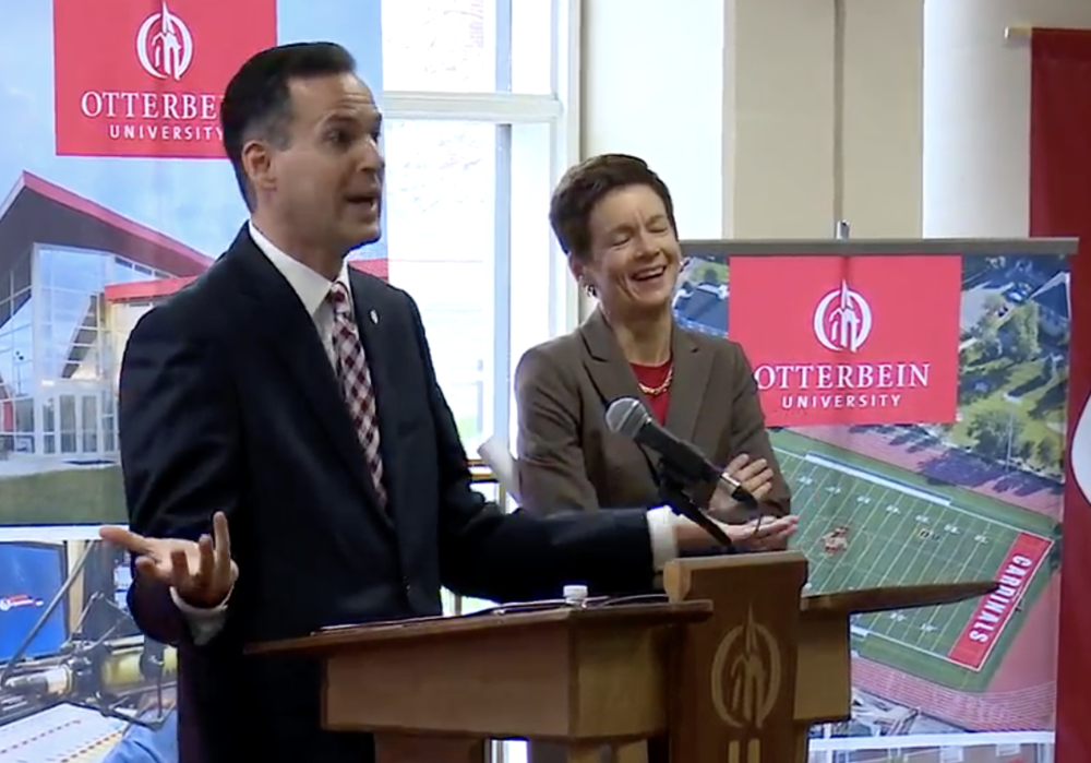 Comerford was introduced to the Otterbein and central Ohio communities at an announcement at 9:30 a.m. on Tuesday, April 24.