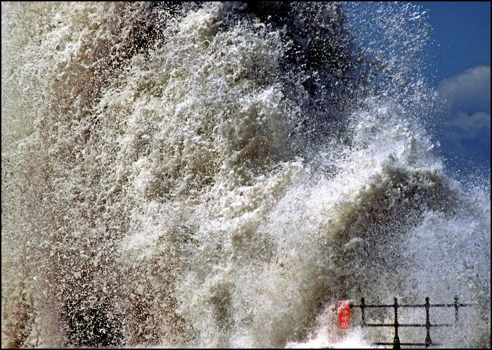 """Wave at Scarborough"" :: © Roger Mockridge :: All Rights Reserved"