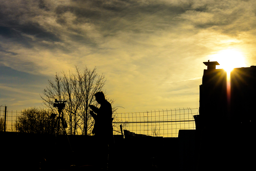 Videographer in silhouette :: © Russell Watkins :: All Rights Reserved