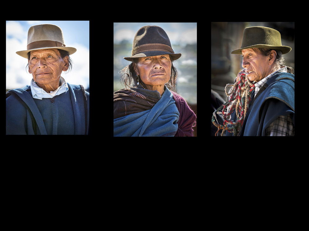 """Ecuadorian Farmers in Fedoras"" :: Image (c) Neville Turton :: All Rights Reserved"