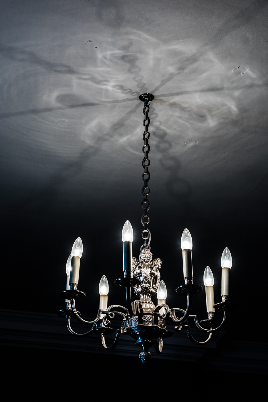 Chandelier and shadow