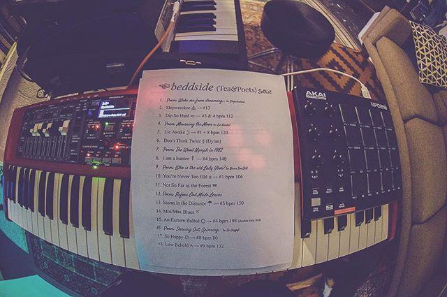 setlist for tonight at Tea&Poets.