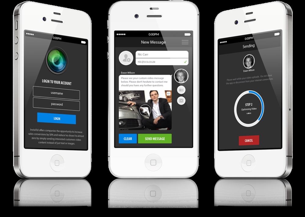 InstaVid iPhone App Screens