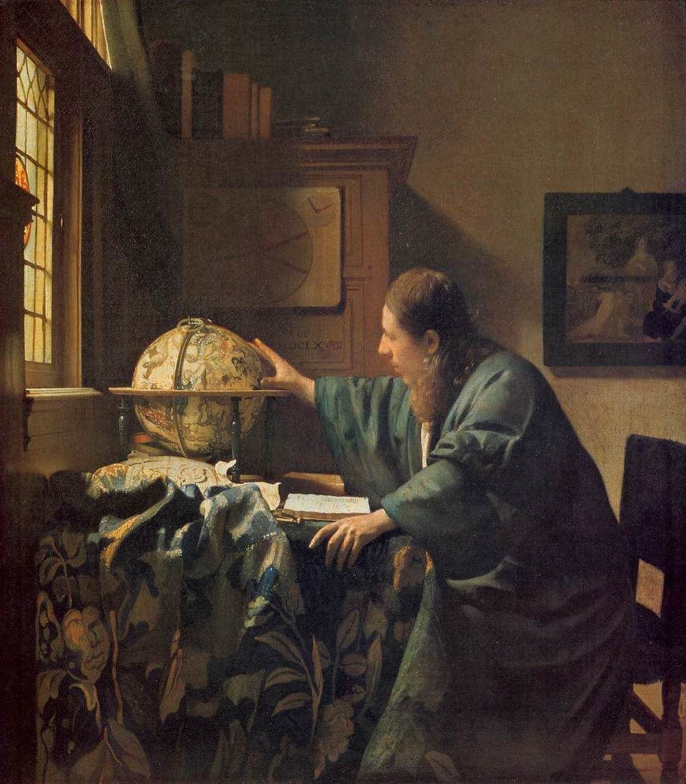 Johannes Vermeer,  The Astronomer  (ca. 1688).  Source:  wikimedia commons .