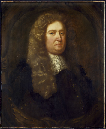 Robert Plot (1640-1696), by William Reader.  Photo by Curator of original at the Ashmolean Museum, Oxford.