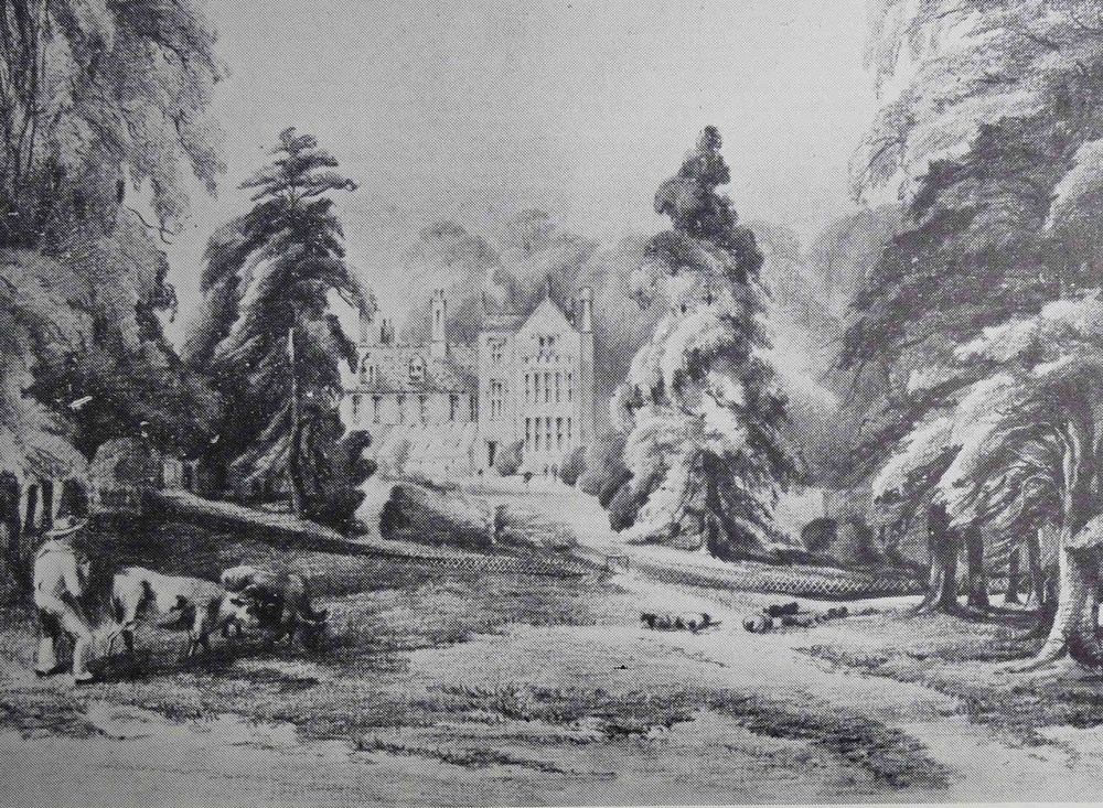 From an untitled pencil sketch (now lost) of Bilton Hall, included without attribution in D. G. Kingsbury,  Bilton Hall  (London: Mitre Press, 1957).