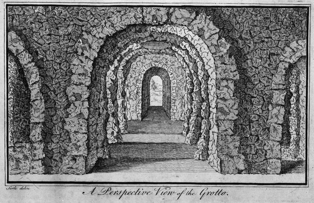 "From Serle, ""A Plan of Mr. Pope's Grotto"" (London, 1745)."