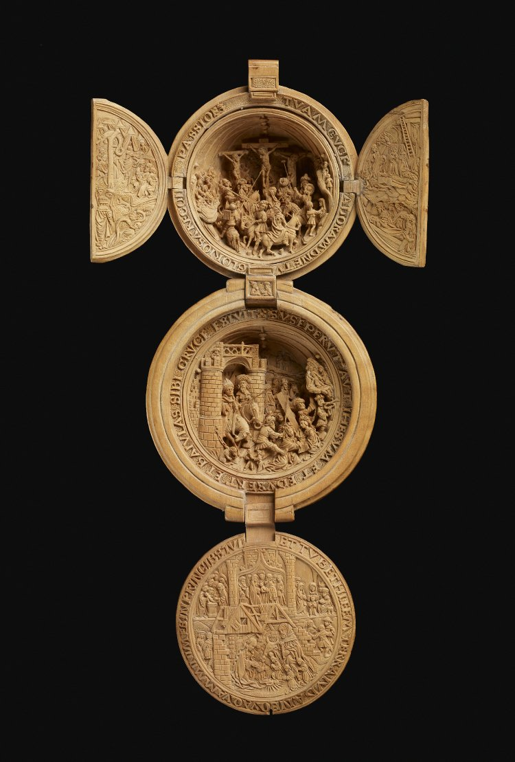 "Flemish ""Prayer Nut,"" ca. 1600, carved from boxwood.  British Museum WB.236.  © Trustees of the British Museum"