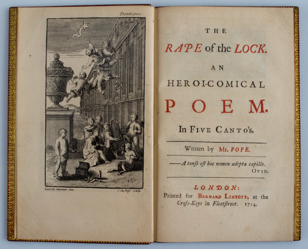 "Alexander Pope,  The Rape of the Lock  (London: 1714). ""Some thought it mounted to the lunar sphere,/ Since all things lost on Earth, are treasur'd there."""