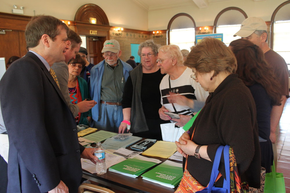 Rep. Quigley socializes with seniors last year at the 2015 Senior Fair.