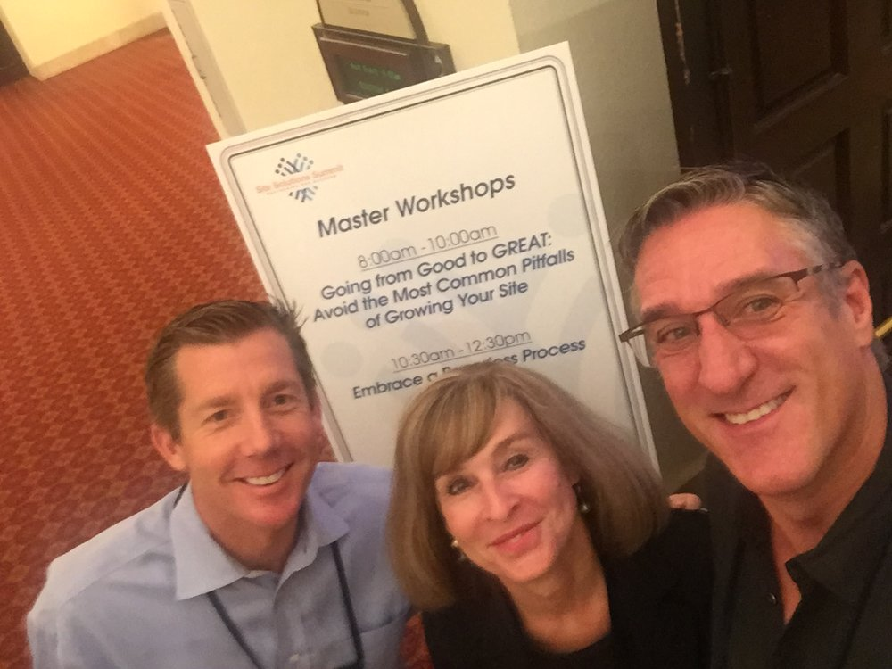 Sean Stanton, Cathy Collins and Steve Satek at thier 2016 workshop