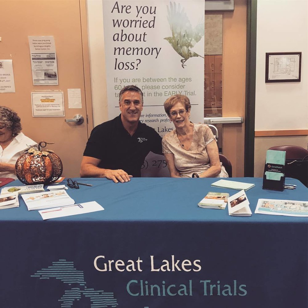 Great Lakes Clinical Trials' President, Steve Satek with his mother, Pat Satek