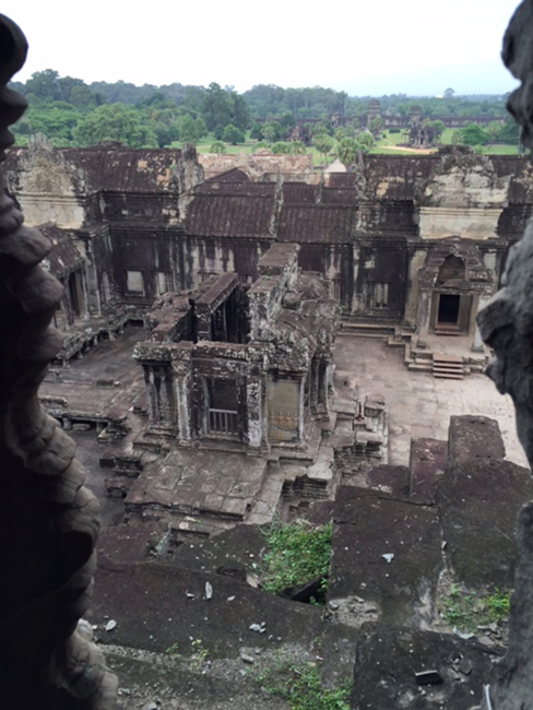 From a window at Angkor Wat