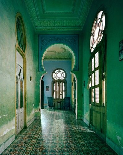 Tiled Floor Hallway, Morocco. Image Source Pinterest