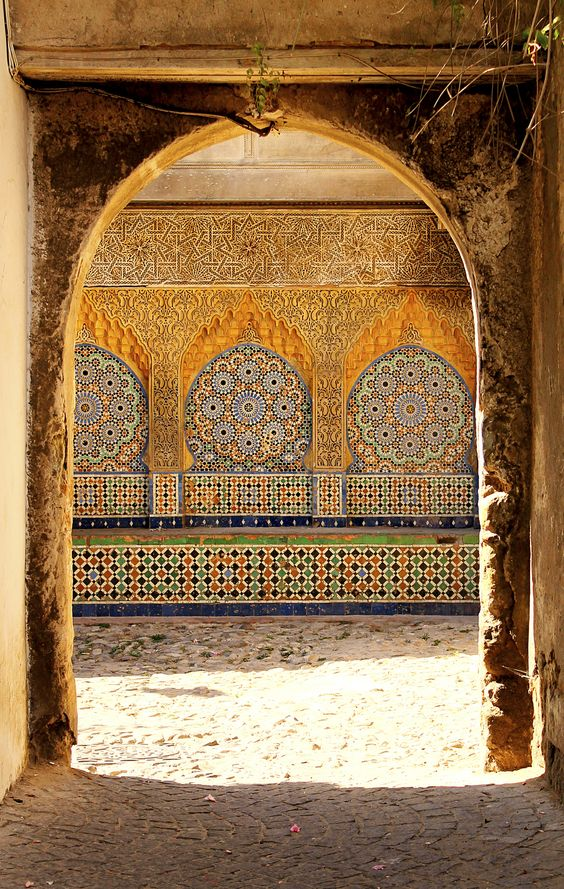 Tiled Entrance Arch, Morocco. Image Source Pinterest
