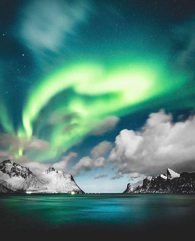 Resplendent Norwegian skies, with TGI's @jude_allen!