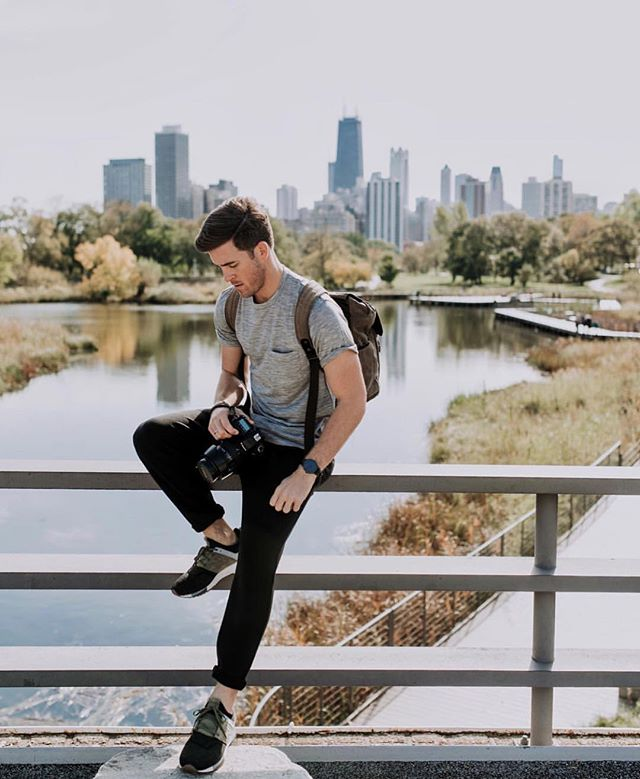 @johnphilp3 in his natural habitat; looking fly in front of the Chicago skyline! 😍📷: @christianxsampson