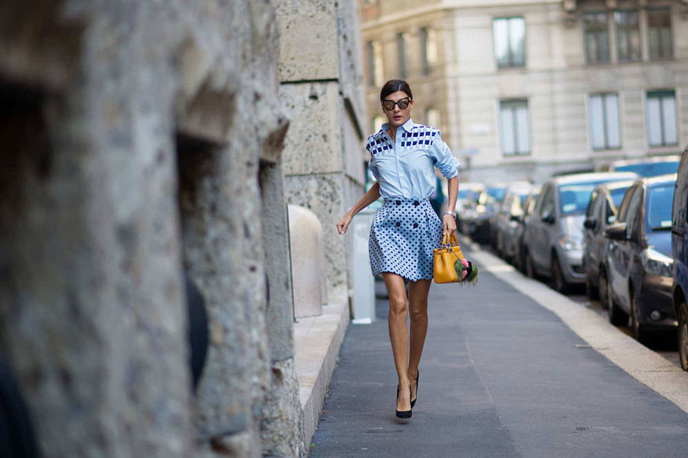 Giovanna Battaglia at MFW SS14   Photo by   Youngjun Koo/I'M KOO