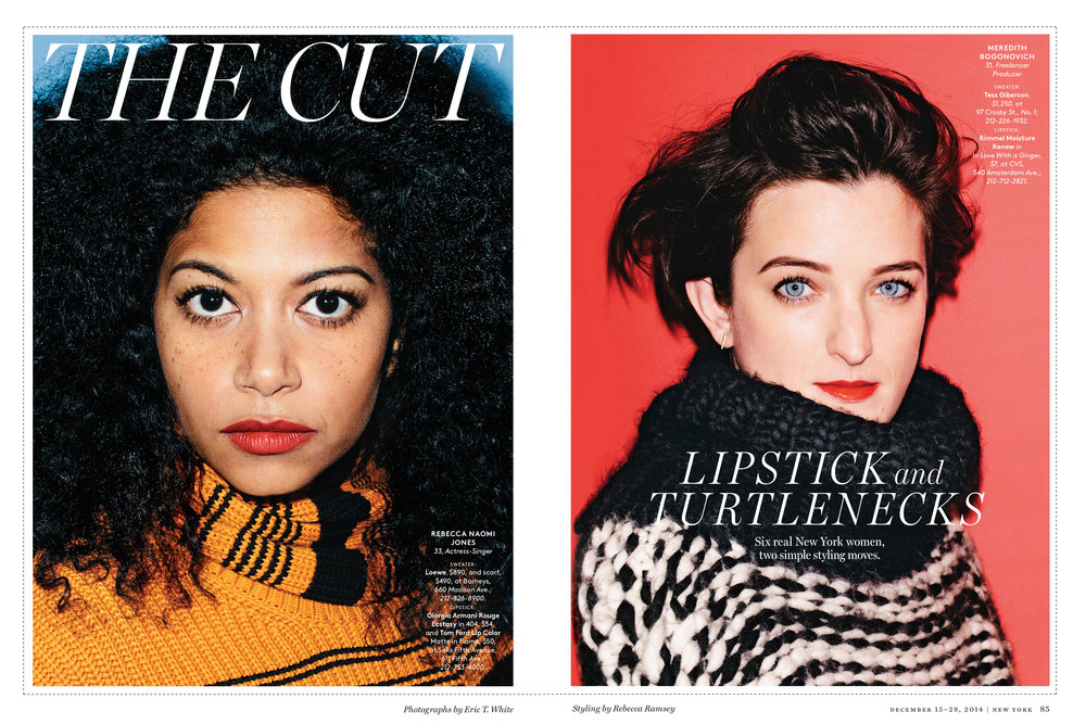 Your Easy Winter Look: Bright Lipstick and Turtlenecks