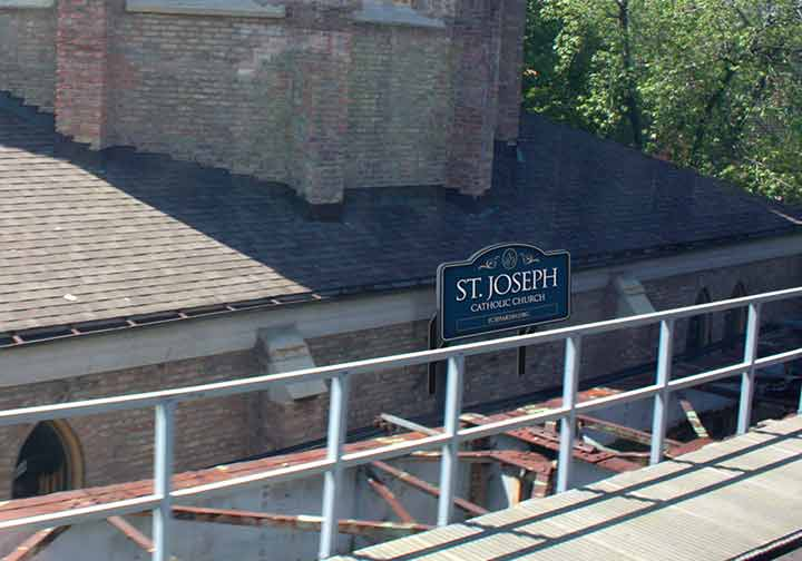 Rendition of east side of SJ as seen from the Brown Line tracks.