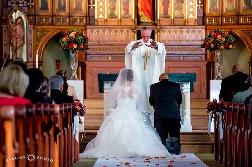 Immaculate Conception & St. Joseph Parishes Catholic wedding  in Chicago Sprung Photo