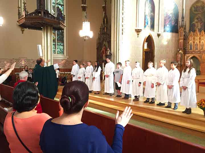 Our 2015 Altar Servers are blessed during October 25th Family Mass.