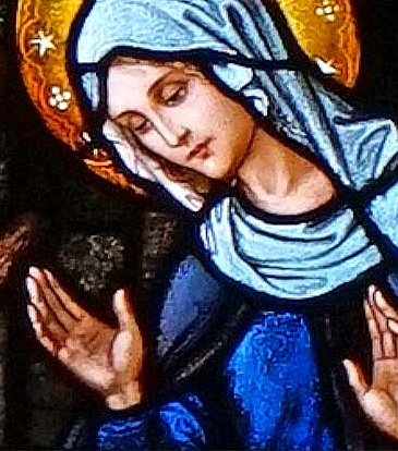 (closeup from St. Joseph Church stained glass windows)