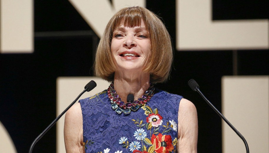 Anna Wintour on stage at Cannes Lions