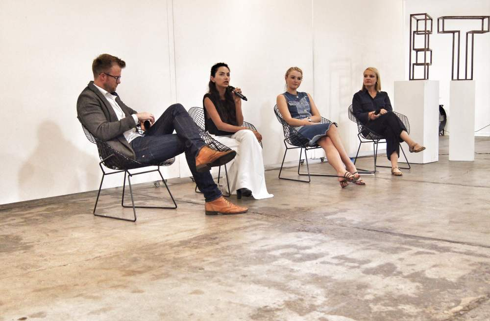 Our panel (from left to right): Samuel Barrett, Diipa Khosla, Amber Atherton, Debbie Cartwright