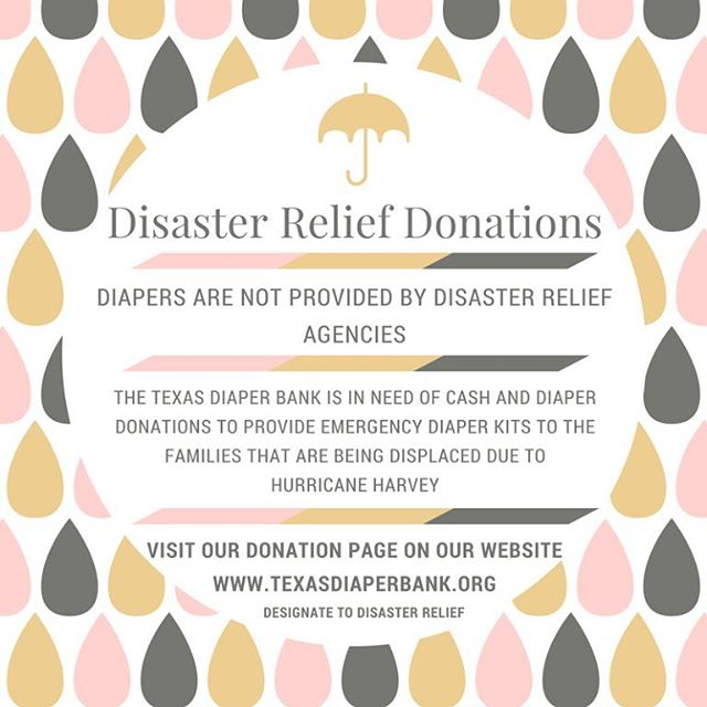 Friends, I'm mentioning this again because it means a lot to me and is worth repeating.  I have many friends and family with small children in Houston, and I can't imagine what they're going through.  With the onset of #HurricaneHarvey, the Texas Diaper Bank originally saw 3,000 families arriving at San Antonio shelters, but they expect to see at least 10,000 more in the coming days, especially with another ~20 inches of rain still to come.  Disaster relief programs don't provide diapers, and many families could only pack a few as they rushed out of their flooding homes.  Prayer is not enough.  If you want to do something that provides real, tangible help to families, donate!  Send something, anything, whatever you can to help these innocent families quite literally struggling to keep their families afloat, clean, and dry.  Follow the link in my profile to proceed. Thank you so much! ❤👶🏼👶🏽👶🏿 -- Photo via the TDB As mentioned on @wbur @npr on 08.29.17 #hurricanerelief #donations #diaperdrive #harvey #disasterrelief #texas #flooding