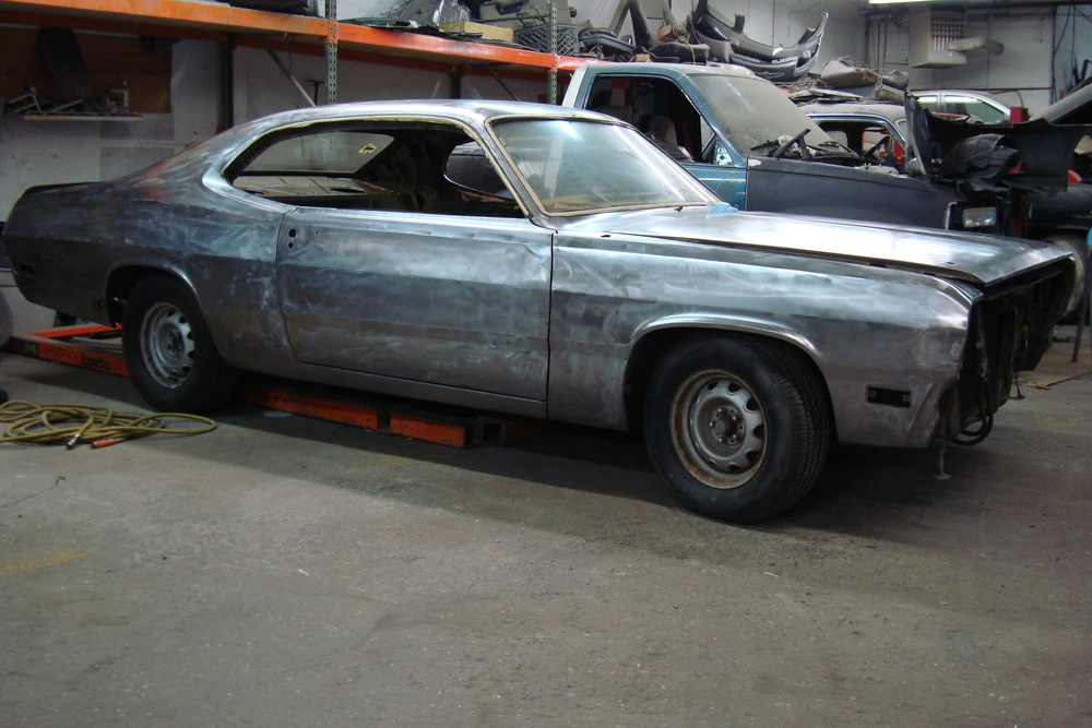 1970 Duster in bare metal