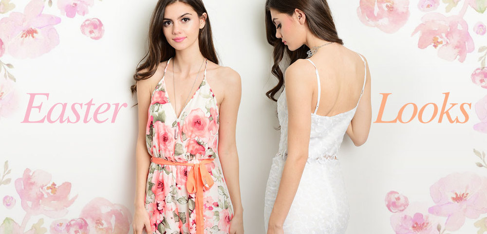 Pretty pastels and flawless florals are just a few things that come to mind when you think of Easter. We have the perfect look for you Easter Sunday no matter if you're spending it at church, at brunch or just with family. Shop here now https://www.wholesalefashionsquare.com/category-s/993.htm