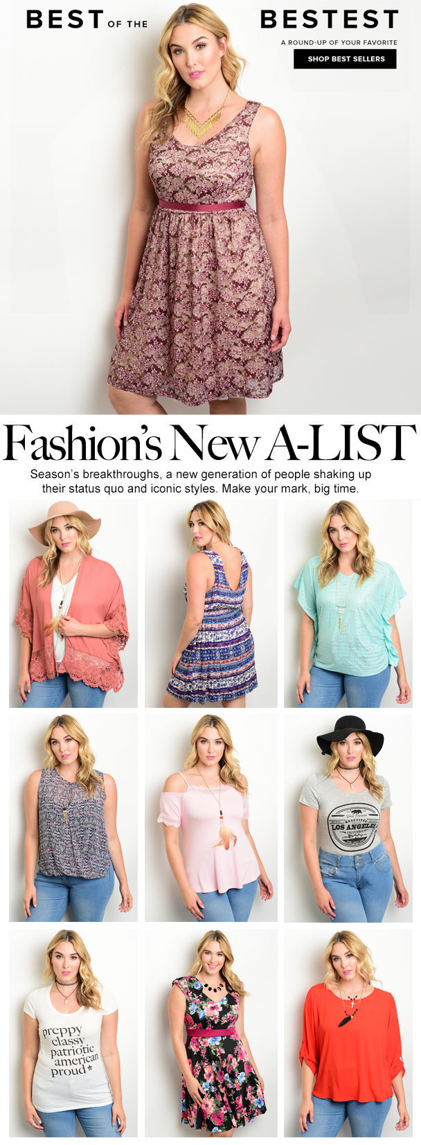 Here are some styles from Wholesale Fashion Square that are flying off our virtual rack. Get on it now before it's too late! Shop plus size now at wholesalefashionsquare.com