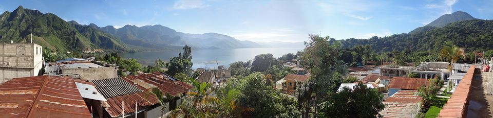 A view of San Juan overlooking Lake Atitlan