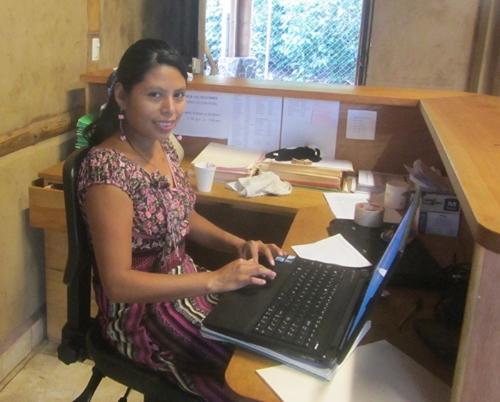 Monica Leja, san pablo receptionist