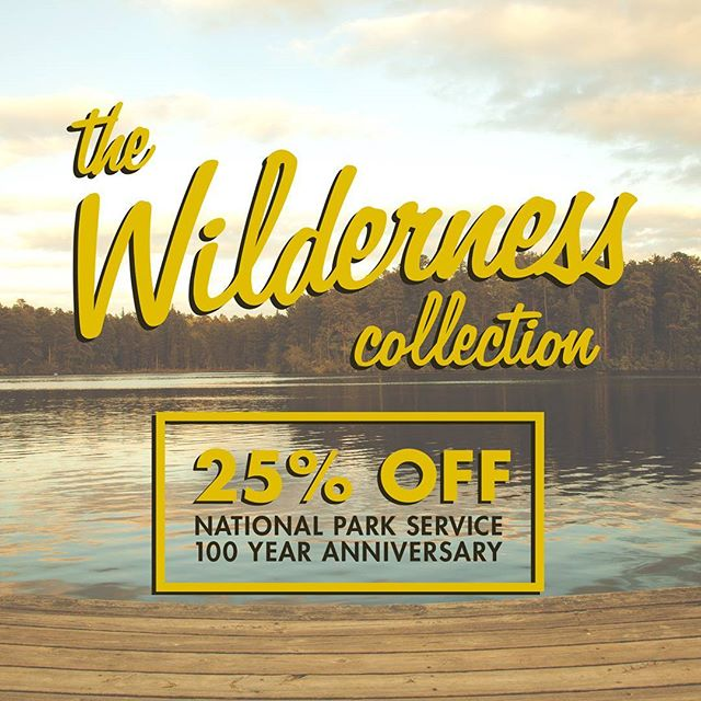 "Today, the National Park Service celebrates their 100th anniversary, so we're celebrating with a 25% off sale for our Wilderness Collection. From now 'til Monday, use the promo code ""100YEARS"" to get the deal on our outdoors-inspired tees, shades, and hats at kidradapparel.com!  #kidrad #wilderness #pinelands #thewildernesscollection #gooutside #adventure #themountainiscalling #greatoutdoors #nj #beachlife #bestcoast #streetwear #streetwearfashion #local #upandcoming #cutnsew #trendpig #pacsun #zumiez #urbanoutfitters #engineeredgarments #welltravelled #campvibes #letsgosomewhere #liveauthentic #NPS #nationalparkservice"