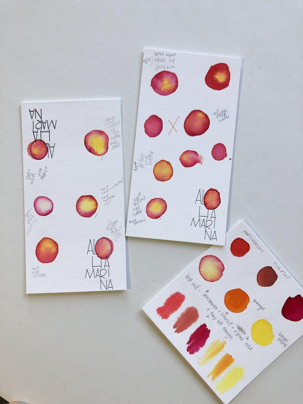 watercolor tests