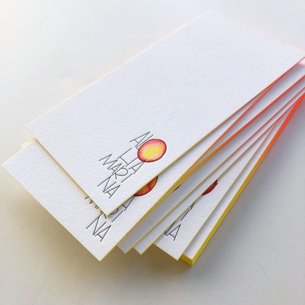 flat stationery with edge painting