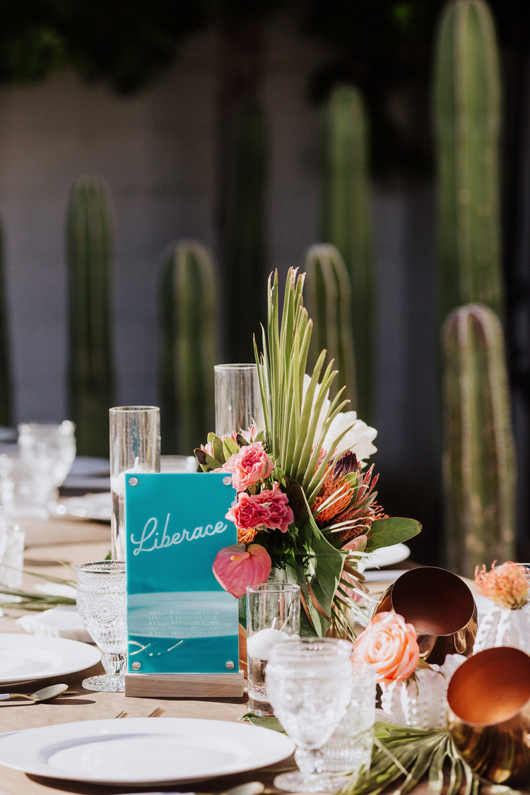 We designed these *very* Palm Springs Acrylic Table Numbers