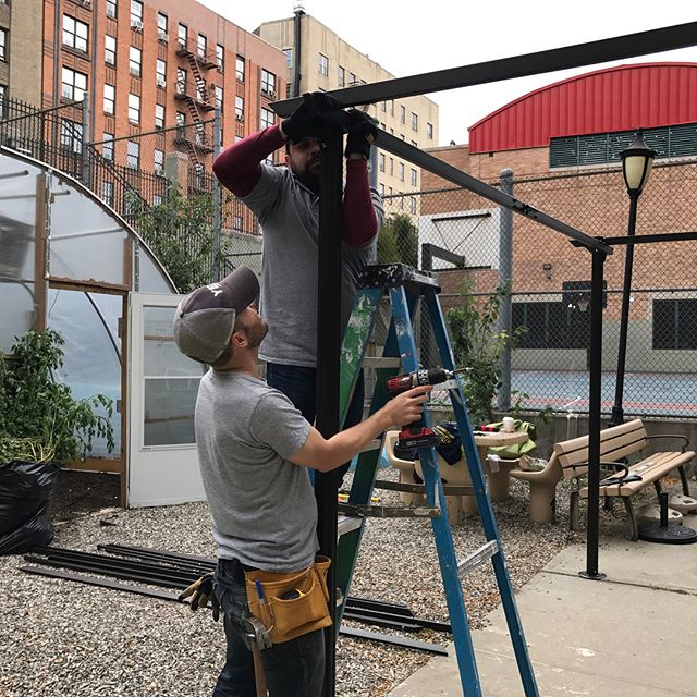 OTL was proud to support @whedcospeaks community development mission this weekend by completing some projects in their garden. We put up a new tool shed and pergola which will be enjoyed by students in WHEDco's after school enrichment program.