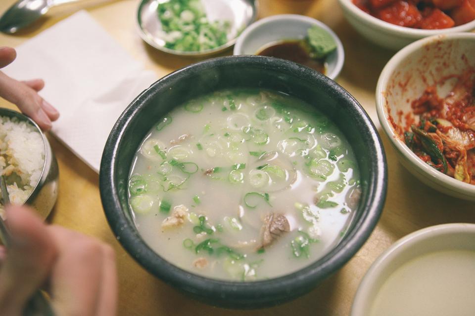 食記dine out◥ han bat sul lung tang @ ktown // 韓國牛骨雪濃湯 精華全在這一碗